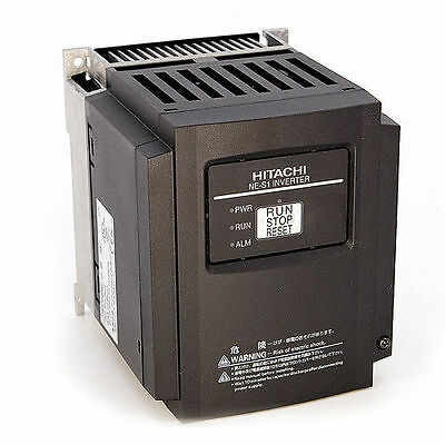 HITACHI NES1-022LB, 3 HP, 230 VAC, 3 PHASE INPUT, VFD, With OPERATOR