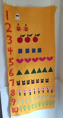 Counting Handmade Felt Board Color Recognition Teaching Resource Bright Decor
