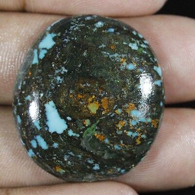 38.40 Cts. 100% NATURAL TIBET TURQUOISE ROYAL OVAL CABOCHON GEMSTONE TBT-132