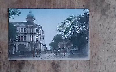 Hill Street, Singapore - Org Postcard c1920 good condition