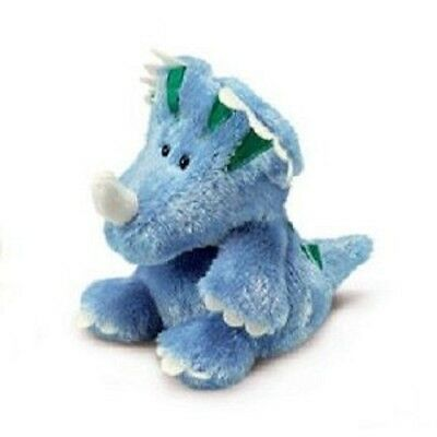 "Luvvies Russ Buddies Jeff Blue Triceratops 5"" by Russ Berrie New with tag 3x3.5"