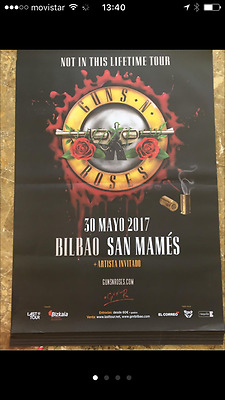 Guns and Roses Huge Poster Reunion Tour 2017 Spain 1,40x1m