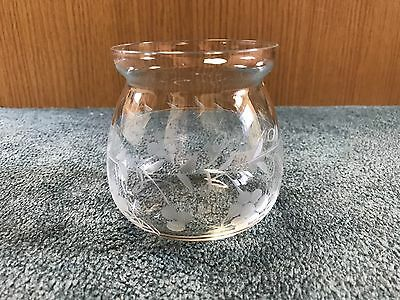 S. Kirk & Son Repousse Sterling Silver & Etched Glass Sugar Bowl