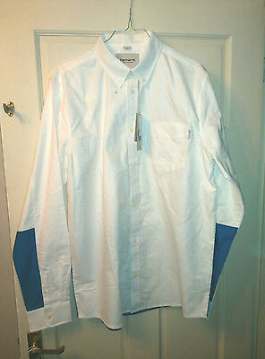 Carhartt Porter Shirt Size LARGE New Original Colour White/Resolution