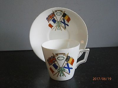 Late Foley SHELLEY Commemorative WW1 'Fight for Freedom' Cup & Saucer