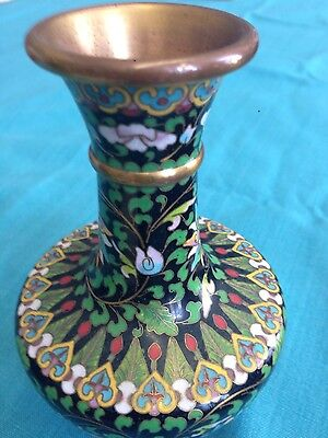 cloisonne vase on enamel