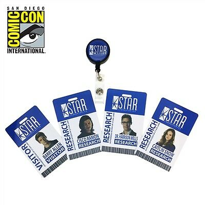 2017 SDCC COMIC CON EXCLUSIVE The Flash - STAR Labs Retractable ID Badge Set!!