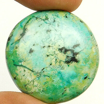 44.40 cts Natural Quality Turquoise Round Loose Cabochon Gemstone For Jewelry