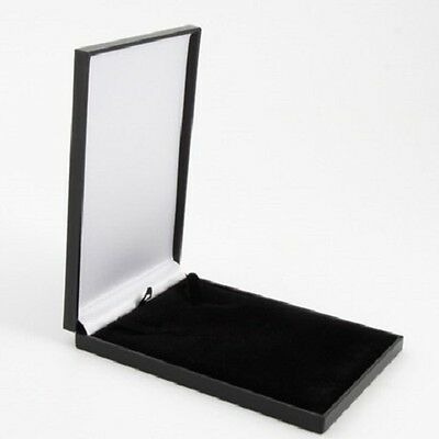Black Leatherette Necklace or Pendant Jewellery Gift Box Postal Size