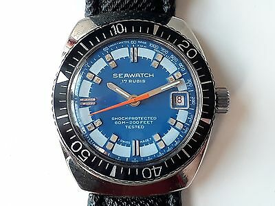 SEAWATCH Diver Swiss Made Watch  17 Rubis NOS