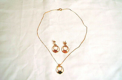 Harley Black Hills Gold Necklace/Earrings