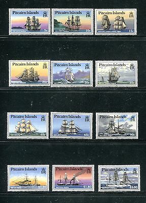 PITCAIRN ISLANDS 298-309, 1988 SHIPS, 301a AND 306a,  MNH (ID6324)