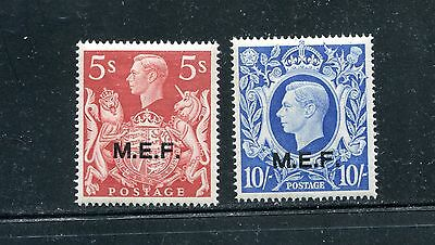 Great Britain - M.e.f. 14-15, 1947 Overprint On 250 & 251A,  Mint, Vlh (Id6347)