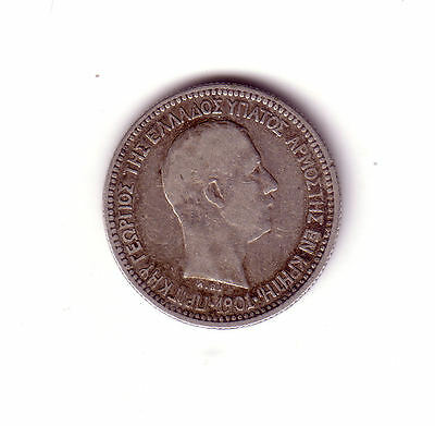 Greece Crete 50 lepta 1901 old Silver coin  LOT #2