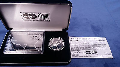 1994 World Cup Silver Medallion Collection and COA #224