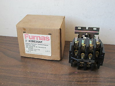 Furnas 42Be25Af Magnetic Contactor,120Vac Coil,,4-Pole,600Volt,new Old Stock