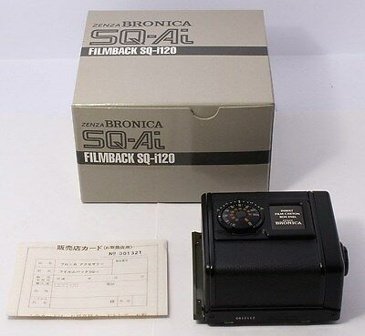 ALMOST UNUSED Zenza BRONICA 120 SQ Ai 6x6 Film Back for SQ-Ai SQ-A SQ-Am SQ-B