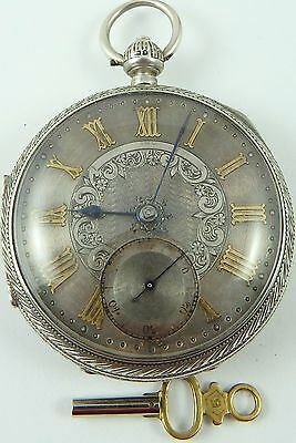 Antique silver dial fusee pocket watch John Forrest London 1897 In working order