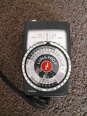 Gossen Luna Pro F light meter - excellent condition