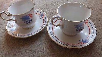 1984 Olympics cups and saucers, Olympic memorabilia, Los Angeles Olympics