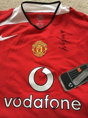 Signed Wayne Rooney Manchester United shirt