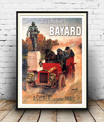 Automobile Bayard :  Vintage French advertising,  Poster reproduction.