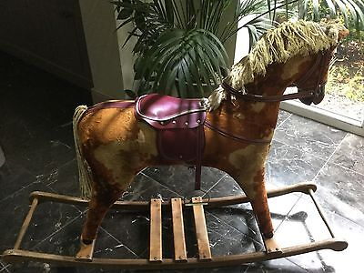 Large Vintage Rocking Horse/shop Display Refurbishmany/Nursery