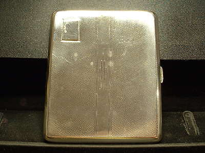 Vintage Sterling Silver Cigarette Case-U.k. Hallmarked C.1948 Fully Functional!