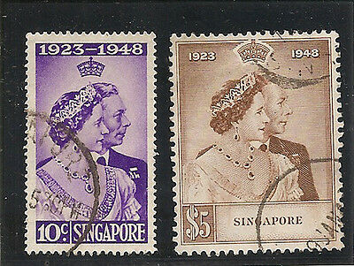 SINGAPORE 1948 Royal Silver Wedding used