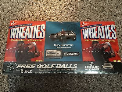 Tiger wood collectible wheaties box Buick rendezvous 2 free golf balls