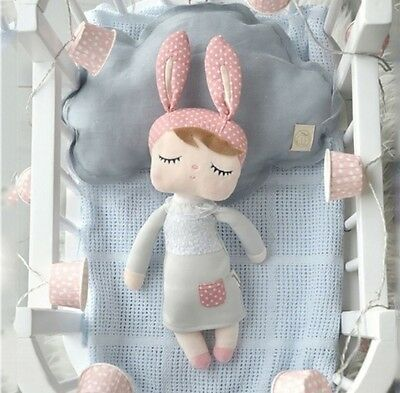 Metoo Lady Rabbit Nursery Doll Pillow Baby Kids Girls Decor Babys Cot