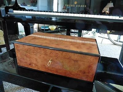 Dunhill Burl Wood Jewelry Box-Simply The Finest!