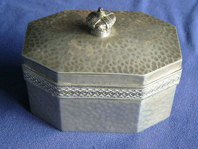 Vintage Hammered Talbot Pewter Decorative Box
