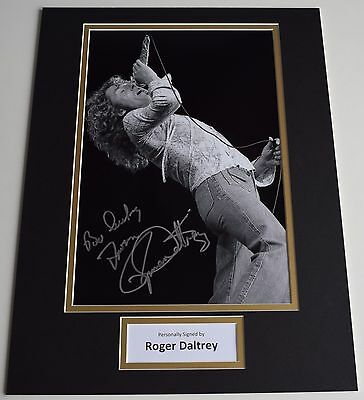Roger Daltrey SIGNED autograph 16x12 photo display The Who Music AFTAL & COA