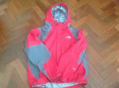 Ladies Hyvent Waterproof NORTH FACE Red and Grey Jacket size L