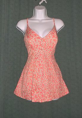 True Vintage 1950's 1960's BATHING SWIM SUIT One Piece Cole of California M-L