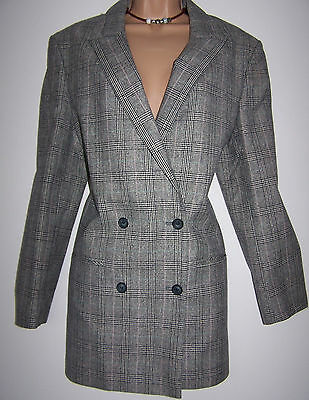 "BNWT Laura Ashley vintage 88' wool & silk ""Duke of Windsor"" long jacket, 12UK"