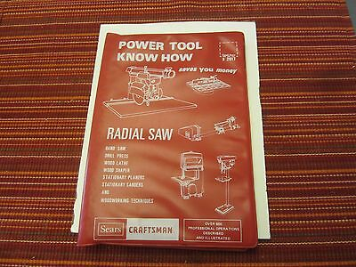 sears power tool know how book 1979