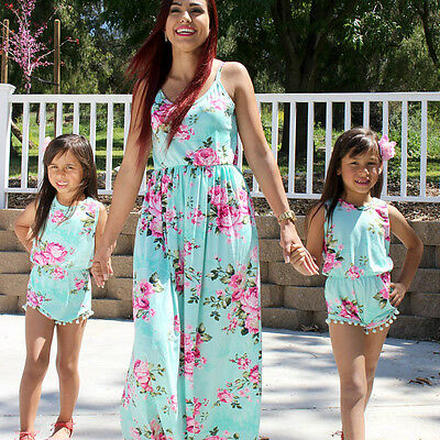 Mother and daughter  Womens Maxi summer dress size 12 age 3-4 years jumpsuit