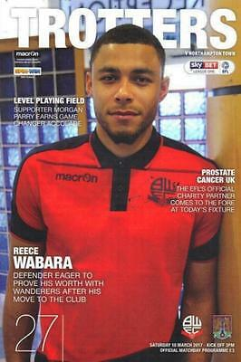 2016/17 - BOLTON WANDERERS v NORTHAMPTON TOWN (18th March 2017)