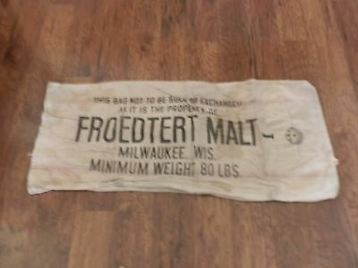 Froedtert Malt Milwaukee, Wis Chase Seamless Cloth Feed/seed Sack