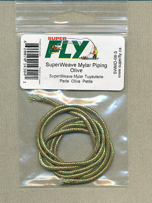 SuperWeave mylar piping - olive - small