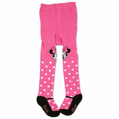 Disney Minnie Mouse Tights with Polka Dots, Hot Pink, Baby Girls, 0-24M