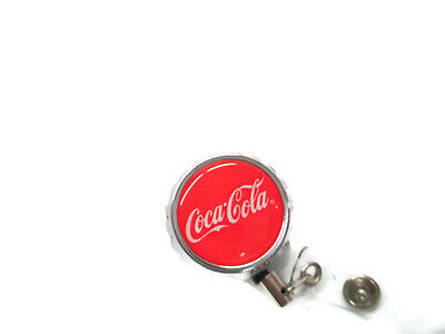 Coca-Cola Bottle Cap Retractable Badge clip Holder Lanyard - free shipping