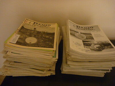 Vintage Lot of 190 Banjo Newsletter Magazines, 1979-1999, Great Condition