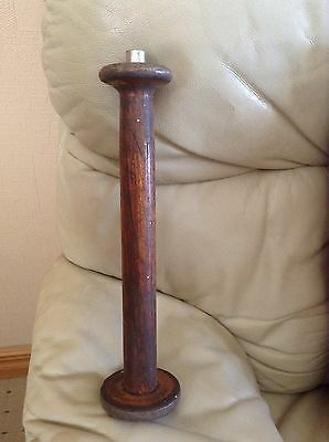 Vintage Candlestick Like Wooden Lighter With Metal On The Rim