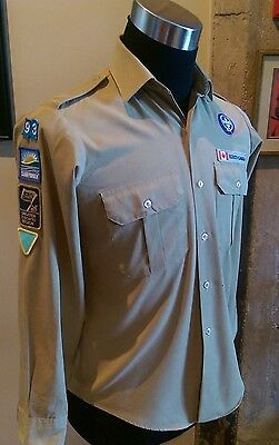 Vintage Canadian L150 Boy Scouts Uniform LS Shirts Youth Sz L/G 40""