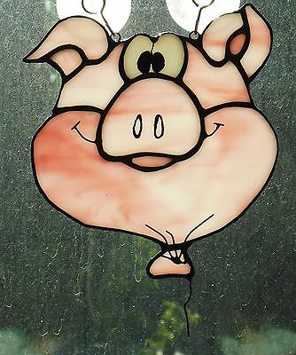 Stained Glass Porky Pig Face