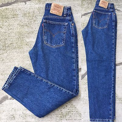 "VTG 90s Levi's 550 Jeans Relaxed Fit Tapered Leg High Waist Sz 10 30"" Waist"
