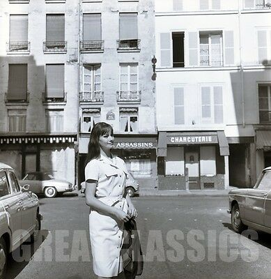 CLAUDINE AUGER IN PARIS 1960s BOND 007 LOVELY 2 1/4 CAMERA NEGATIVE PETER BASCH